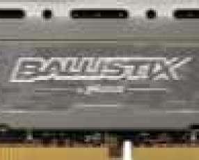 Memoria DDR4 8 GB 2666 crucial bls8g4d26bfsbk ballistix LT gris