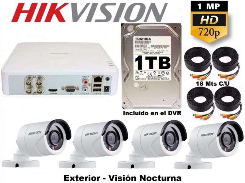 Circuito Cerrado 4 cámaras Hikvision HD - 2