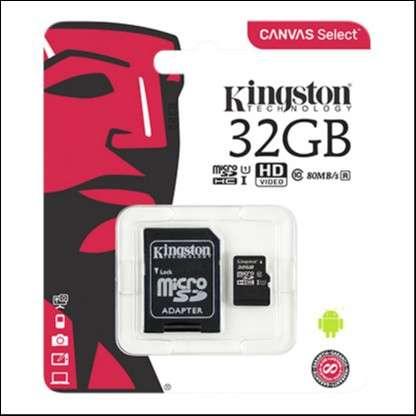 Memoria Micro SDXC 32 GB Kingston 80MB - 1