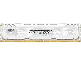 Memoria DDR4 16GB 2400 MHZ ballistix gaming blanco