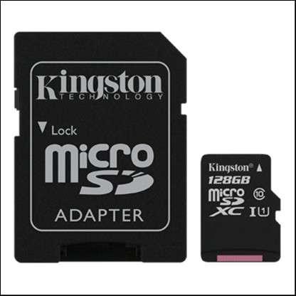 Memoria Micro SDXC 128 GB Kingston 80MB - 0