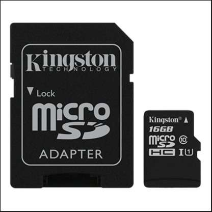 Memoria Micro SDXC 16 GB Kingston 80MB - 0
