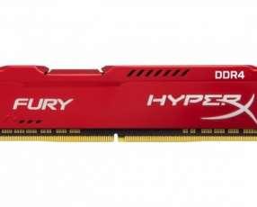 Memoria DDR4 8GB 2666 king hypx fury red HX426C16FR2/8