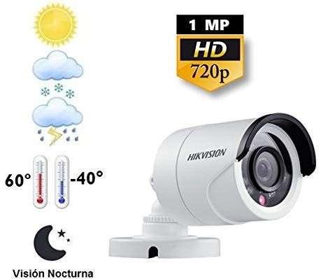 Circuito Cerrado 4 cámaras Hikvision HD - 0
