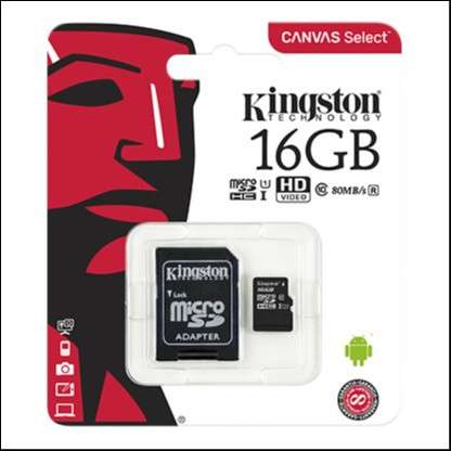 Memoria Micro SDXC 16 GB Kingston 80MB - 1