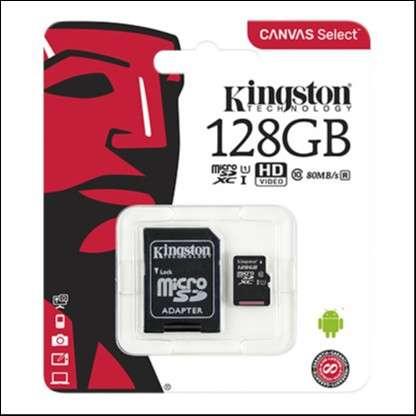 Memoria Micro SDXC 128 GB Kingston 80MB - 1