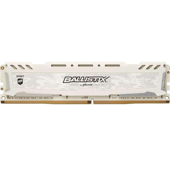 Memoria DDR4 16GB 2666 MHZ ballistix gaming blanco - 0