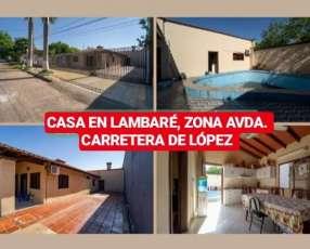 Casa en Lambaré zona Carretera de López