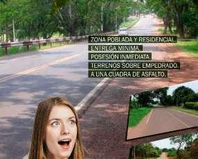 Terrenos en Areguá