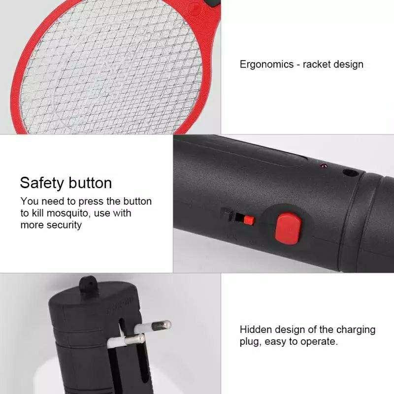 Raqueta eléctrica mata mosquito - 3