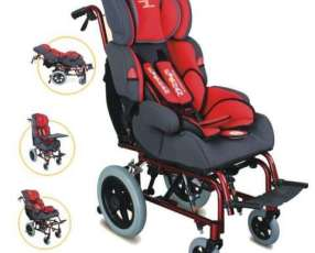 Silla de ruedas para niños reclinable