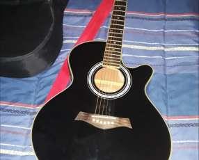Guitarra electroacústica Freeman con púas