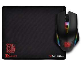 Mouse + pad gamer thermal talon elite pro opt 5000 dpi mo-ter