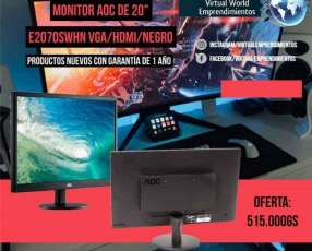 Monitor AOC DE 20 pulgadas E2070SWHN VGA/HDMI/Negro