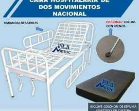 Cama hospitalaria de dos movimientos nacional