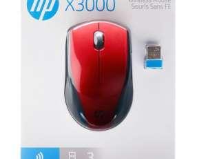 Mouse HP x3000 2hw69aa#abl rojo wir