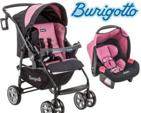 Carrito + Baby Seat Burigotto AT6 Touring Evolution Rosa N