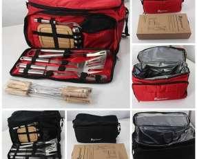 Bolsón térmico con kit para asado
