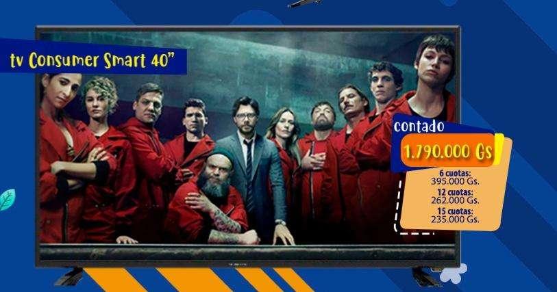 Televisión Smart 40 pulgadas - 0