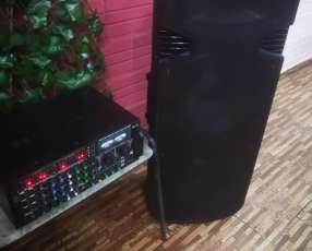 Amplificador con 2 bafles