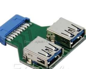 Placa 2 Salidas USB 3.0 interno para PC