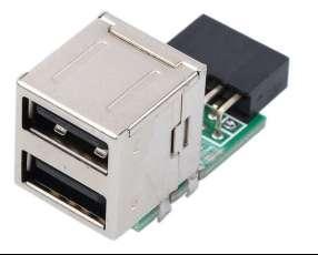 Placa 2 Salidas USB interno para PC