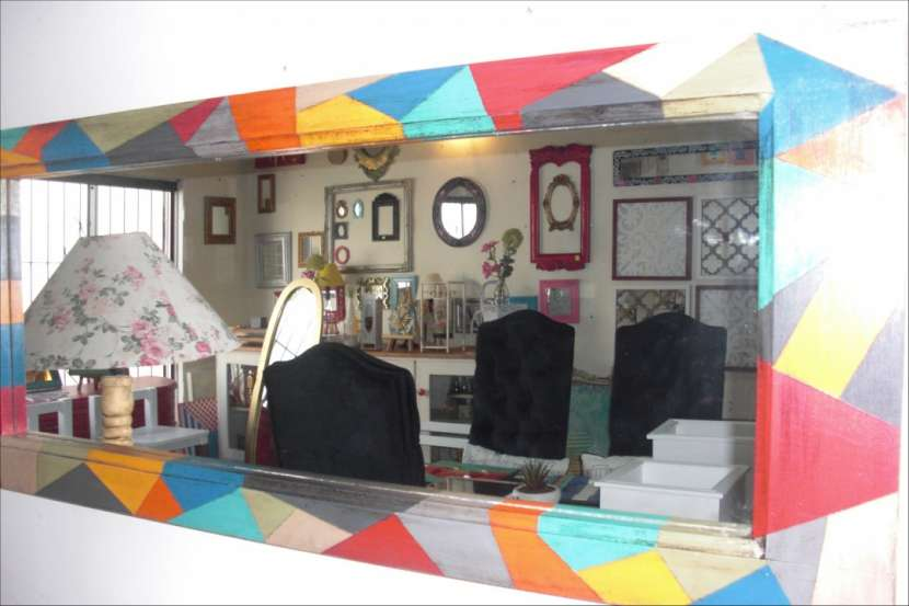 Espejo colorido vintage - 1