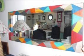 Espejo colorido vintage