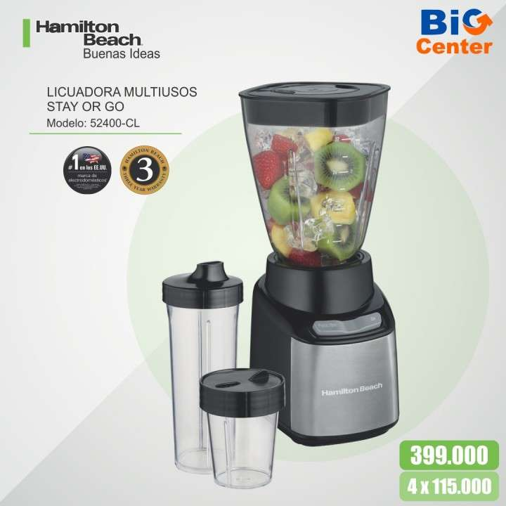 Licuadora Hamilton Beach Multiusos Stay or Go - 0