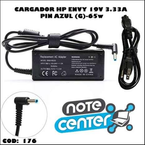 Cargador para notebook HP Envy 19V 3.33A pin azul 65W