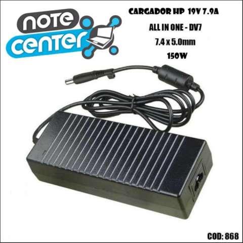 Cargador para notebook HP 19.5V 7.7A pin dv7 aio grueso 150W