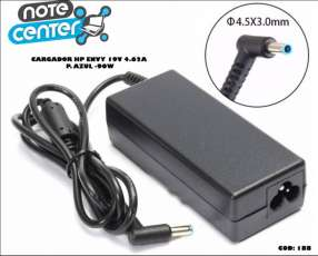 Cargador para notebook HP Envy 19V 4.62A 90W pin azul 90W