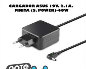 Cargador para notebook Asus 19V. 2.1A finita (s/ power) 40W
