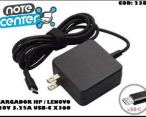 Cargador para notebook HP Lenovo 20V 3.25A PIN USB-C - 65W