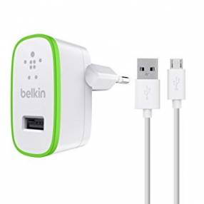 2.1 amp charger with micro usb cable white