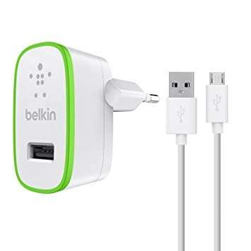 2.1 amp charger with micro usb cable white - 0