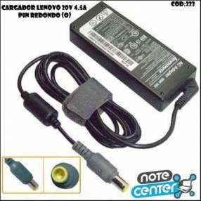 Cargador p/ notebook Lenovo 20V 4.5A pin redondo 90W