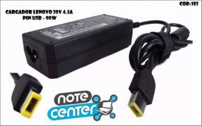 Cargador p/ notebook Lenovo 20V 4.5A pin usb (G) 90W