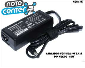 Cargador para notebook Toshiba 19V 3.42A pin negro 65W