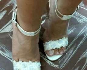 Zapato blanco fiesta c&c calce 39