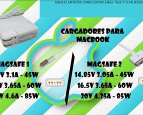 Cargador para Macbook Magsafe 1 (pin l) - magsafe 2 (pin t)