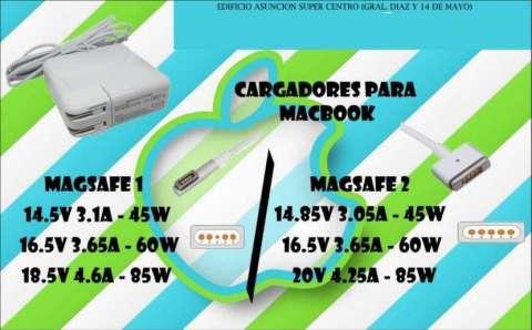 Cargador para Macbook Magsafe 1 (pin l) - magsafe 2 (pin t)