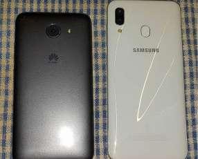 Samsung Galaxy A30 y Huawei Y5 Lite