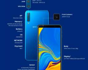 Samsung Galaxy A7 2018 triple cámara 64 gb
