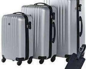 Maleta de Viaje Rígida con 4 Ruedas