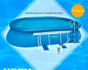 Piscina borde inflable+ estructura