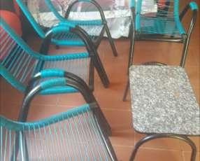 Juego de sillones de cable