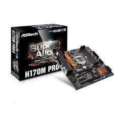 MB ASROCK 1151 H170M PRO4 V/S/R/DVI/HDMI/M2/DP/DDR - 0