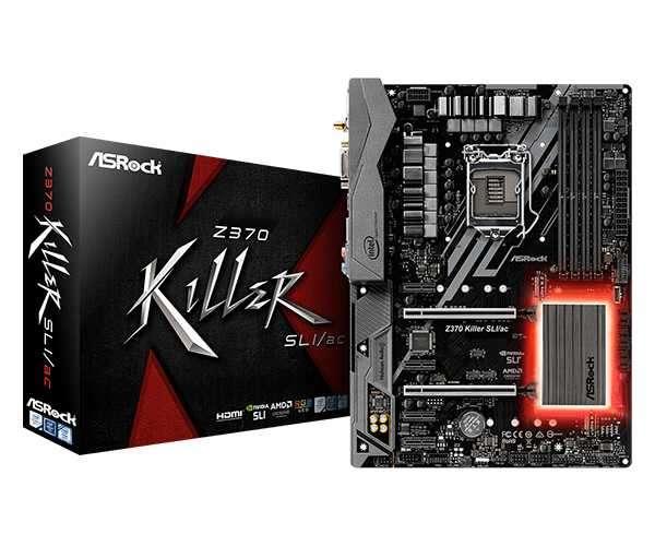 MB ASROCK 1151 Z370 KILLER SLI/AC S/R/DVI/HDMI/WIF - 0