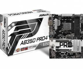 MB ASROCK AM4 AB350 PRO4 V/S/R/DVI/HDMI/M2/DDR4